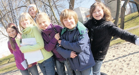 Die Kinderjury vom Kannenstieg. Foto: Robert Richter