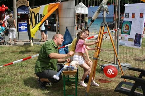 Sonnenbeobachtung Stadtteilfest 2012
