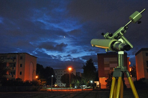 Morgenstimmung am Kannenstieg (Jupiterbedeckung durch den Mond am 15. Juli 2012)