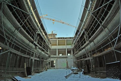 Der zukünftige Innenhof der Schule