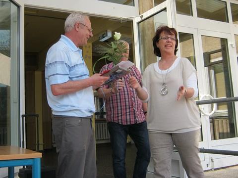 Herr Barucker, langjähriger Schachlehrer unserer Schule, wird verabschiedet
