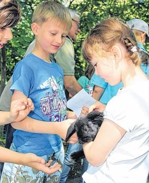 Die Kaninchen-Jungen waren der Höhepunkt des Lesepicknicks. Foto: S. Harter