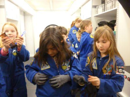 Einkleiden der Marsonauten
