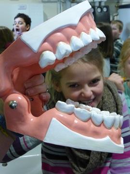 Die Zahnputzstunde macht viel Spaß!