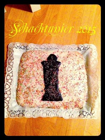 Ein sehr leckerer und kreativer Schachkuchen!
