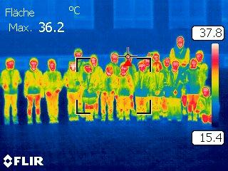 Wärmebildkamera: Aufnahme der Energiescout-Gruppe