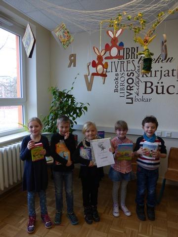 Emily Könnyü, Finnley Pohl, Charlene Berg, Phillipp Träger und Franziska Eckert (v.l)