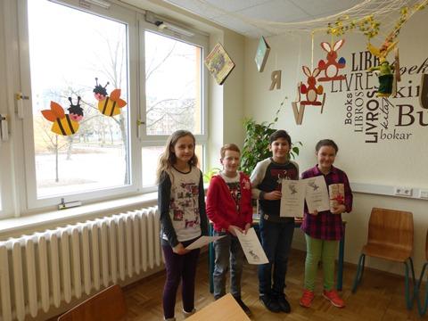 Jeanna-Jayne Denecke, Christian Näter, Hussein Khalaf und Bella Marie Goedecke (v.l.)