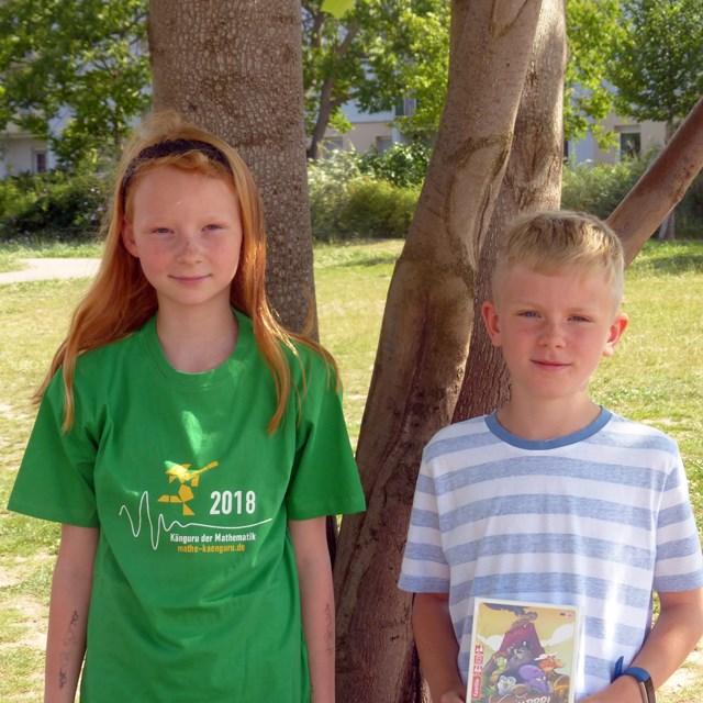 Emily Pethe (4c) und Fabian Ole Lange (3c)